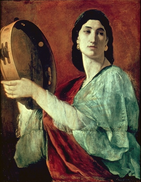 anselm-feuerbach-miriam-with-tambourine