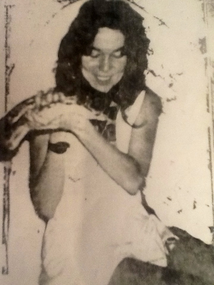 Jan with a Snake