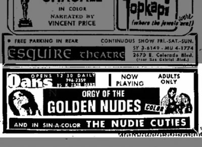 Orgy of the Golden Nudes Newspaper Clipping