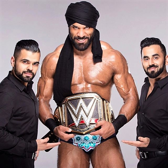 Jinder Mahal and the Singh Bros