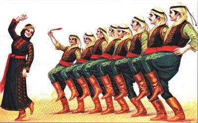 Dabke Dancers Vintage (2)