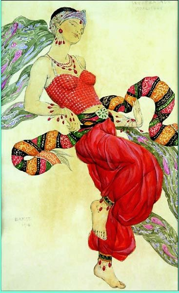 Leon Bakst Design for Ballet Russes