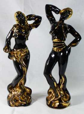 B;ackamoor Harem Dancer Couple Figurines