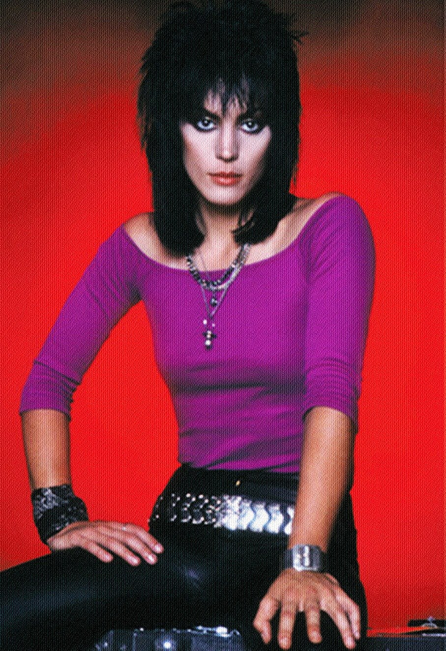 Joan Jett in Fuschia Top