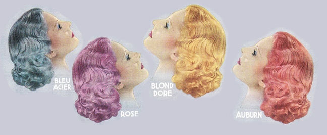 Pastel Hair Dyes in the 1930's
