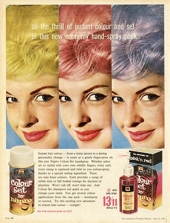 Vintage Haircolor: Instant Bright Hair Colors 1960s by Napro