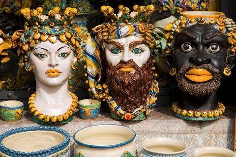 Italian Head Vases