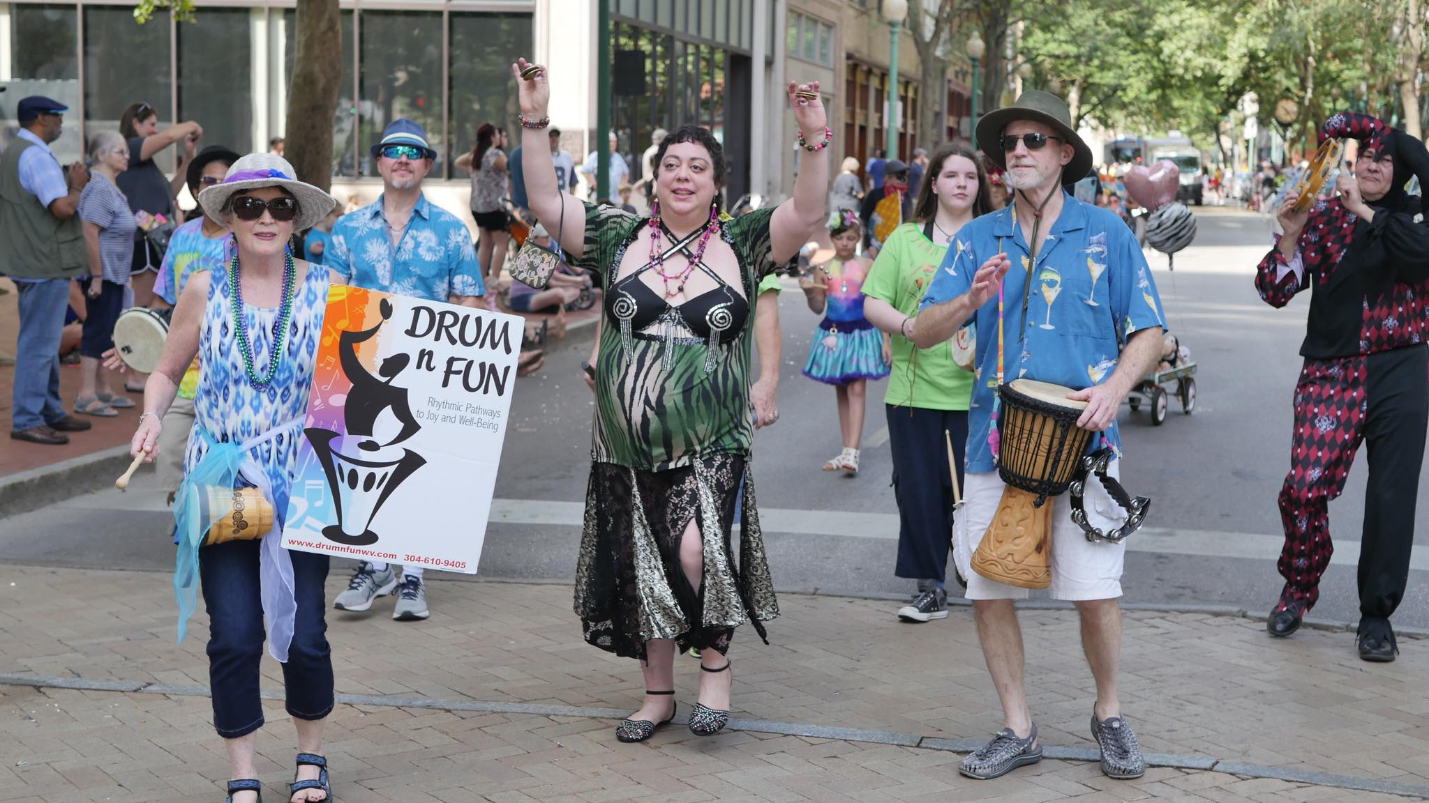"""Drum 'n Fun"" Group ""FestivAll Art Parade 2018"", Charleston, WV"